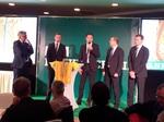 Wolfgang Stark und Team in der Podiumsdiskussion